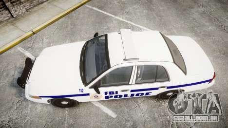 Ford Crown Victoria F.B.I. Police [ELS] para GTA 4 vista direita