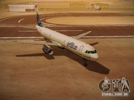 Airbus A321-232 jetBlue La vie en Blue para GTA San Andreas esquerda vista