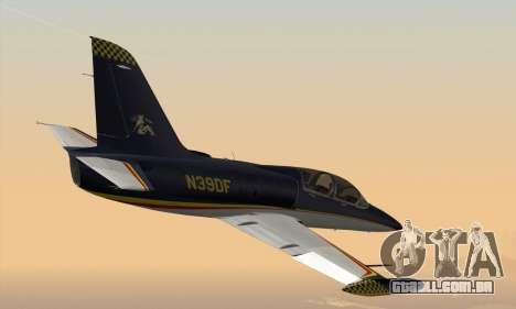 Aero L-39C para GTA San Andreas traseira esquerda vista
