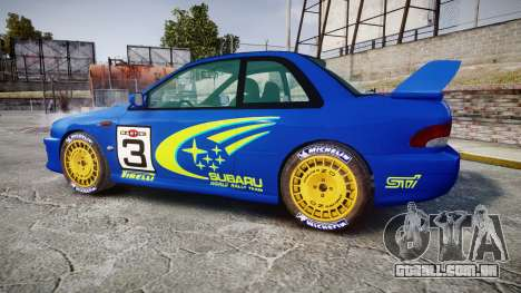 Subaru Impreza WRC 1998 World Rally para GTA 4 esquerda vista