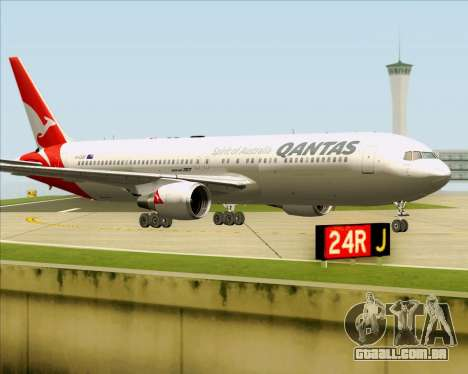Boeing 767-300ER Qantas (New Colors) para GTA San Andreas esquerda vista