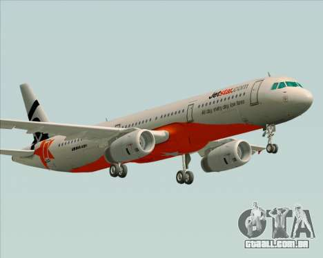 Airbus A321-200 Jetstar Airways para GTA San Andreas vista direita