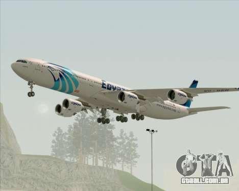 Airbus A340-600 EgyptAir para GTA San Andreas vista direita