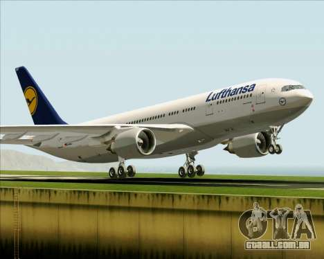 Airbus A330-200 Lufthansa para GTA San Andreas interior