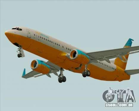 Boeing 737-800 Orbit Airlines para o motor de GTA San Andreas