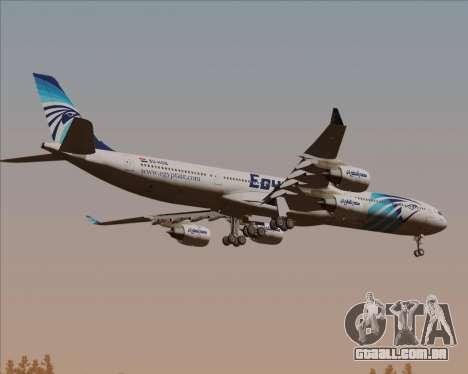 Airbus A340-600 EgyptAir para GTA San Andreas vista traseira