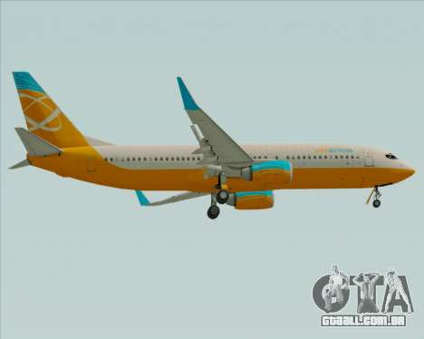 Boeing 737-800 Orbit Airlines para GTA San Andreas vista direita