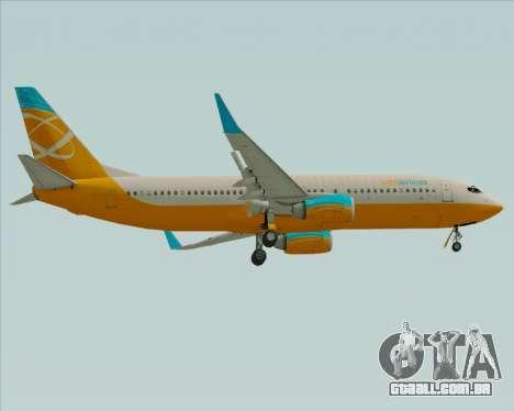 Boeing 737-800 Orbit Airlines para GTA San Andreas vista direita