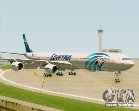Airbus A340-600 EgyptAir para GTA San Andreas vista interior