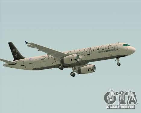 Airbus A321-200 Air New Zealand (Star Alliance) para GTA San Andreas vista traseira
