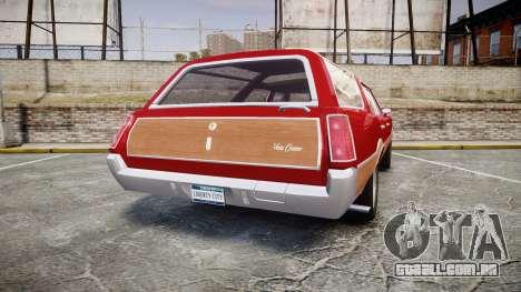 Oldsmobile Vista Cruiser 1972 Rims1 Tree2 para GTA 4 traseira esquerda vista