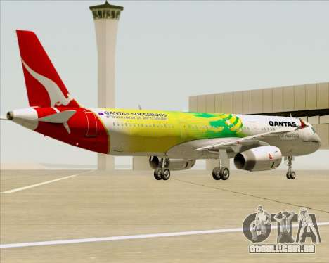 Airbus A321-200 Qantas (Socceroos Livery) para as rodas de GTA San Andreas