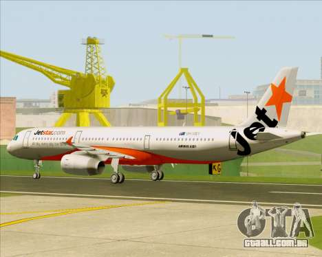 Airbus A321-200 Jetstar Airways para GTA San Andreas vista traseira