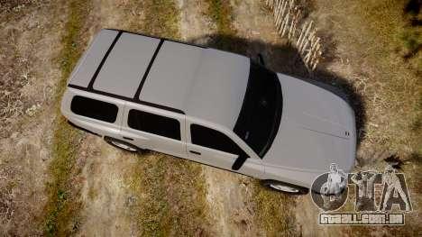 Dodge Durango 2000 Undercover [ELS] para GTA 4 vista direita