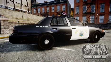 Ford Crown Victoria CHP CVPI Vision [ELS] para GTA 4 esquerda vista