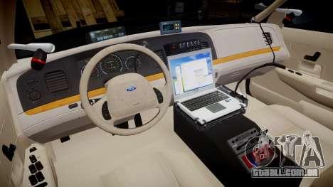 Ford Crown Victoria CHP CVPI Slicktop [ELS] para GTA 4 vista de volta