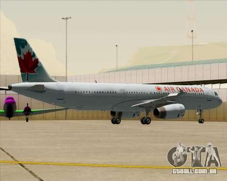 Airbus A321-200 Air Canada para as rodas de GTA San Andreas