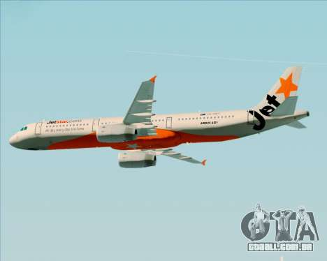 Airbus A321-200 Jetstar Airways para as rodas de GTA San Andreas