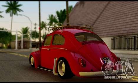 Volkswagen Beetle para GTA San Andreas esquerda vista