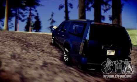 Cadillac Escalade Ninja para vista lateral GTA San Andreas