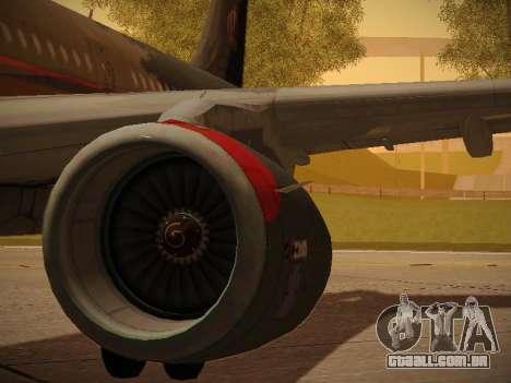 Airbus A321-232 Royal Jordanian Airlines para as rodas de GTA San Andreas