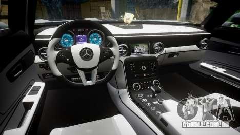 Mercedes-Benz SLS AMG GT-3 low para GTA 4 vista de volta