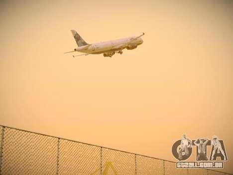 Airbus A321-232 jetBlue La vie en Blue para GTA San Andreas vista traseira