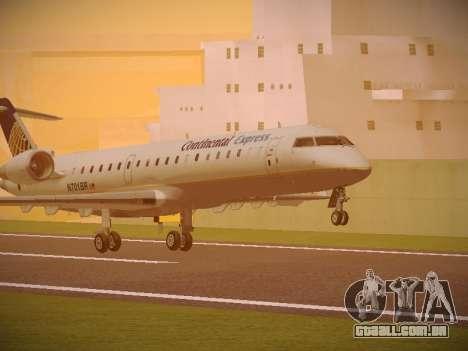 Bombardier CRJ-700 Continental Express para GTA San Andreas esquerda vista