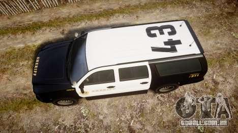 GTA V Declasse Granger LSS Black [ELS] Slicktop para GTA 4 vista direita