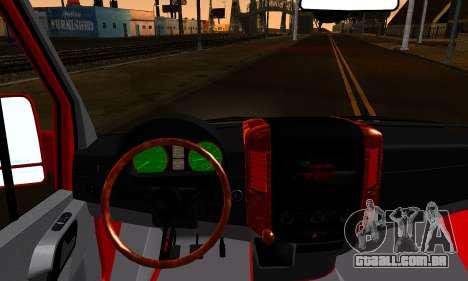 Mercedes-Benz Sprinter VIP para GTA San Andreas traseira esquerda vista
