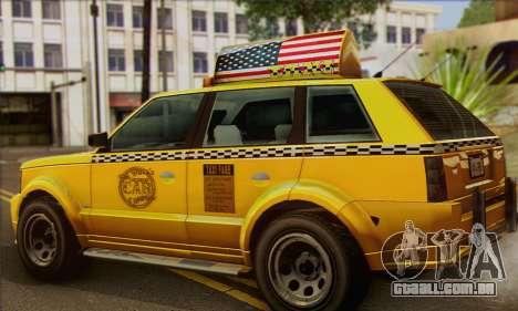 VAPID Huntley Taxi (Saints Row 4 Style) para GTA San Andreas esquerda vista