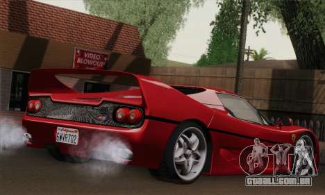 Ferrari F50 1995 Autovista para GTA San Andreas esquerda vista