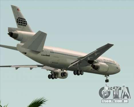 McDonnell Douglas DC-10-30 World Airways para GTA San Andreas vista superior