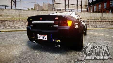 GTA V Cheval Fugitive LS Police [ELS] Slicktop para GTA 4 traseira esquerda vista