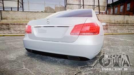 Mercedes-Benz E63 W213 AMG 2014 Vossen para GTA 4 traseira esquerda vista