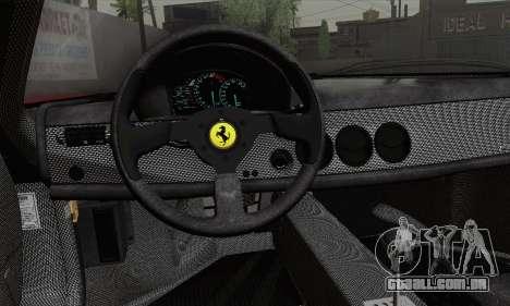Ferrari F50 1995 Autovista para GTA San Andreas traseira esquerda vista