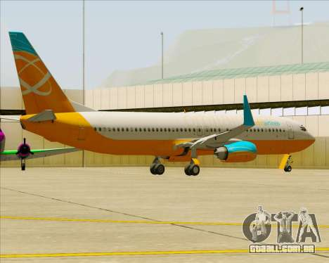 Boeing 737-800 Orbit Airlines para as rodas de GTA San Andreas
