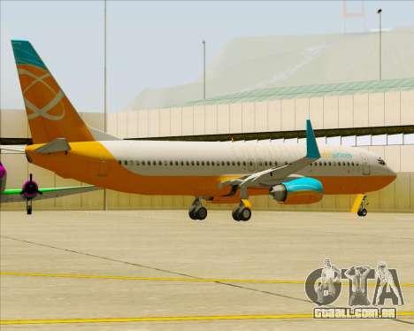 Boeing 737-800 Orbit Airlines para as rodas de GTA San Andreas