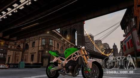 Kawasaki Ninja 636 Stunt para GTA 4 traseira esquerda vista