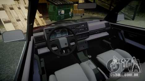 Volkswagen Golf GTI Mk2 Budget Street Cred para GTA 4 vista interior