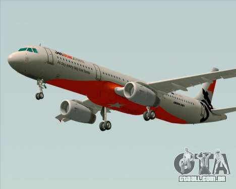 Airbus A321-200 Jetstar Airways para GTA San Andreas vista interior