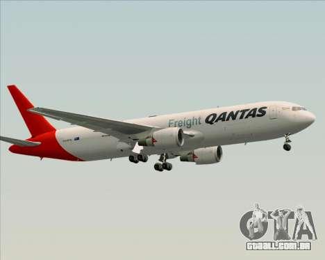 Boeing 767-300F Qantas Freight para GTA San Andreas vista interior