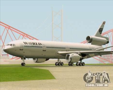 McDonnell Douglas DC-10-30 World Airways para GTA San Andreas vista traseira