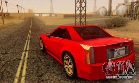 Cadillac XLR para GTA San Andreas esquerda vista