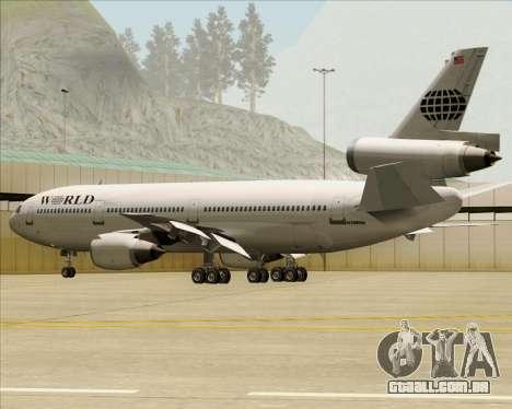 McDonnell Douglas DC-10-30 World Airways para o motor de GTA San Andreas