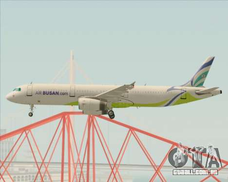 Airbus A321-200 Air Busan para GTA San Andreas vista interior