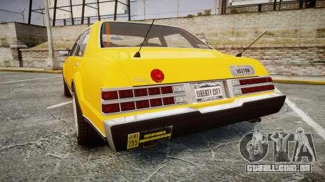 Albany Romans Taxi para GTA 4 traseira esquerda vista