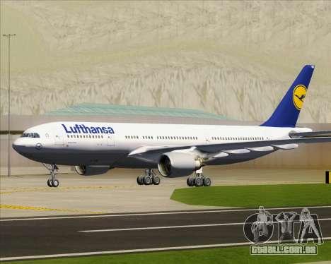 Airbus A330-200 Lufthansa para GTA San Andreas vista superior