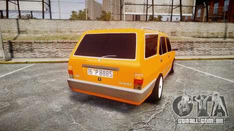 Tofas Kartal SLX Taxi para GTA 4 traseira esquerda vista
