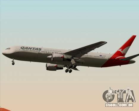 Boeing 767-300ER Qantas (New Colors) para GTA San Andreas vista traseira